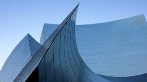 Fassadenformen der Walt-Disney-Concert-Hall in Los Angeles