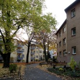 Darmstadt, Wohnhof Nieder-Ramstädter Straße.