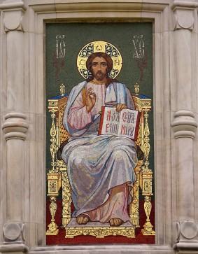 Die Ikonenmalereien und Entwürfe für die Mosaiks der Darmstädter russisch-orthodoxen Kirche stammen zum großen Teil von den russischen Kirchenmalern Karl Timoleon Neff und Wiktor Michailowitsch Wasnezow.