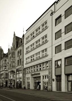 Das Bankgebäude Am Anger 26 war der erste Bau der Moderne in Erfurt und führte damals zu intensiven Diskussionen.