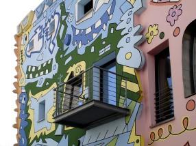 Mit einem Gang auf den Balkon wird man selbst Bestandteil des Kunstwerkes.