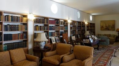 Nicht nur in der Bibliothek des Gebäudes wurden damals weltpolitische relevante Entscheidungen vorbereitet.